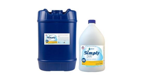 simply pure enzyme pool cleaner, pool enzyme, NSF-50 pool chemical, NSF pool chemicals