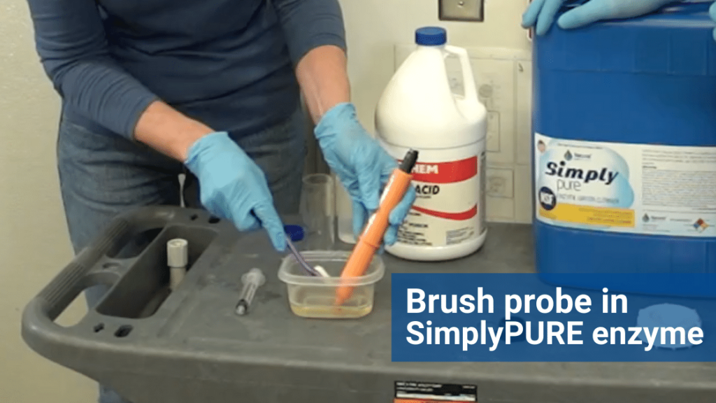 clean pH probe, pH probes, prominent probe, how to clean a probe, enzyme probe cleaner