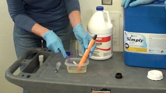 how to clean ORP probe, pH probe, pool enzyme, natural pool products